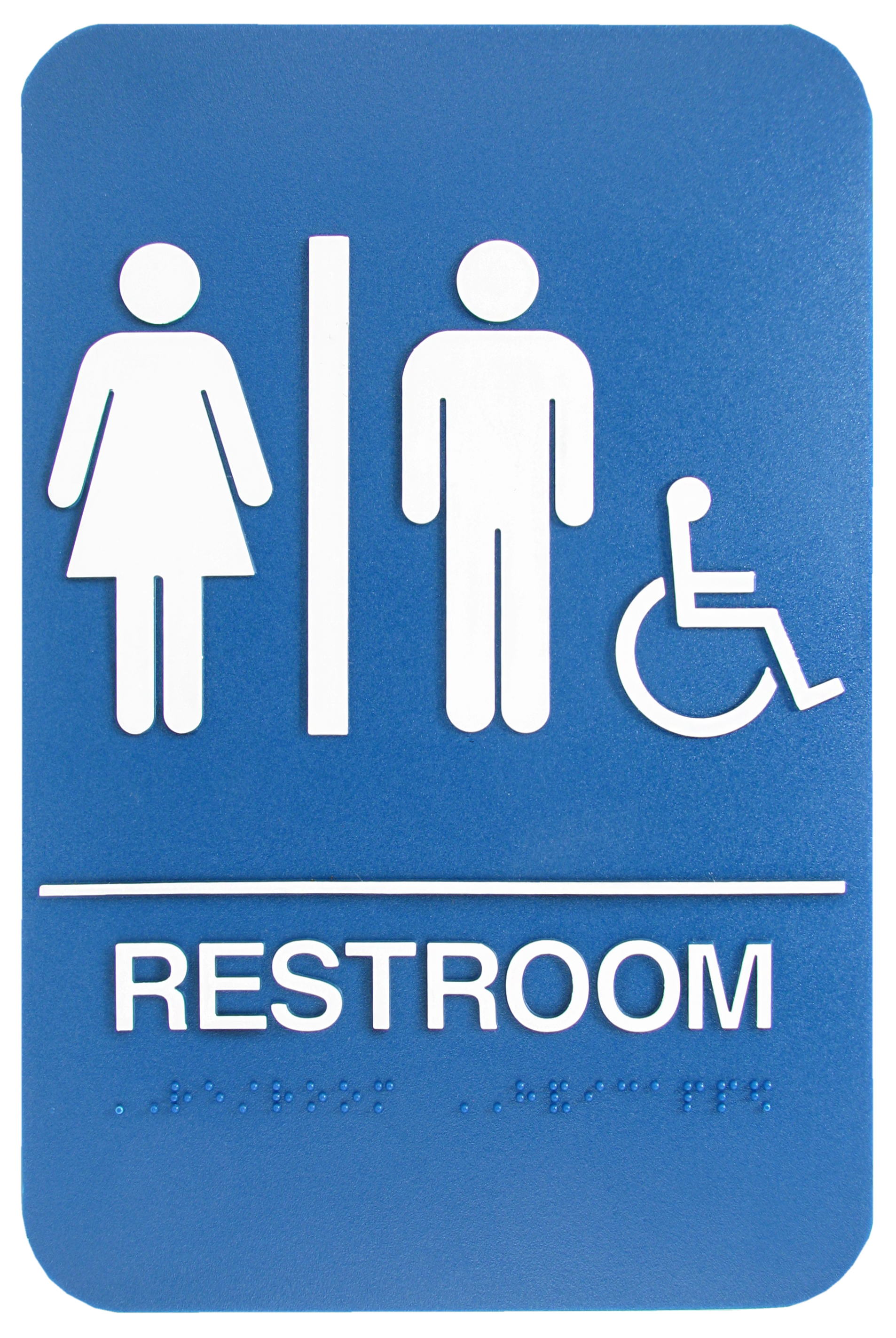 Commercial restroom signs for sale at equiparts