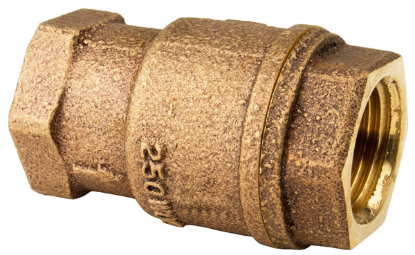 "1-1/2"" FNPT X FNPT IN-LINE BRONZE CHECK VALVE"