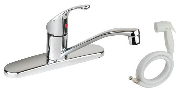SINGLE HANDLE KITCHEN FAUCET W/ WHITE SPRAY
