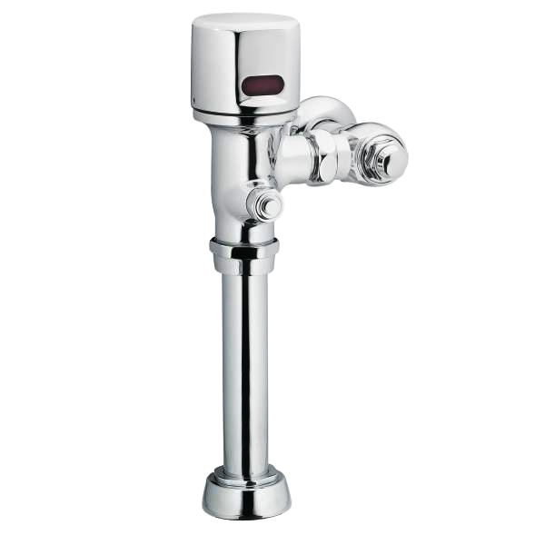 "M-POWER CHROME ELECTRONIC FLUSH VALVE 1-1/2"" WATER CLOSET 1.28 GPF BATTERY POWERED"