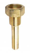 BRASS THERMOWELL  3-1/2""