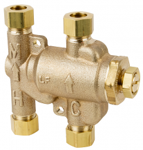 "LF 3/8"" COMP- THERMOSTATIC MIXING VALVE BUILT IN TEE"