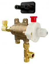 THERMOSTATIC MIXING VALVE W/ PIPE FLUSH MODE