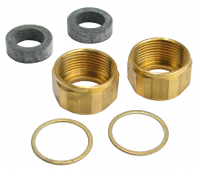 "5/8"" GAUGE GLASS NUT & GASKET KIT"