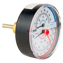 "1/2"" MNPT REAR MOUNT TEMP & PRESSURE GAUGE (60-280°F)"