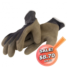 THERMO NYLON KNIT GLOVE W/ACRYLIC LINER AND LATEX GRIP (SMALL)