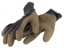 THERMO NYLON KNIT GLOVE W/ACRYLIC LINER AND LATEX GRIP (MEDIUM)