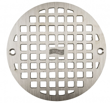 "6-3/8"" ROUND REPLACEMENT GRATE W/SCREWS"