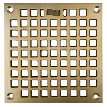 "4-5/8"" SQ BRONZE GRATE W/SCREWS"