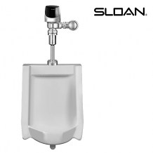 URINAL W/ G2 OPTIMA PLUS FLUSHOMETER - 0.25 GPF