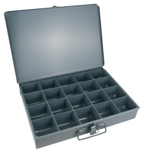 16 COMP STEEL STORAGE CASE