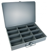 12 COMP STEEL STORAGE CASE
