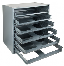 6 COMP STEEL SLIDE RACK