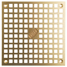 "5-5/8"" SQ BRONZE REPL GRATE W/SCREWS"