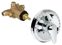 THERMOSTATIC MIXING VALVE W/ METAL TRIM