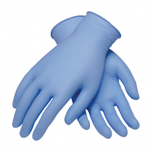 NITRILE GLOVES - BLUE (BX 100) 5 MIL MEDIUM