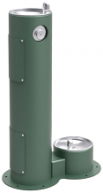 ELKAY - OUTDOOR PEDESTAL FOUNTAIN W/ PET FOUNTAIN (SPECIFY COLOR)
