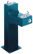 HALSEY TAYLOR - FREEZE RESISTANT OUTDOOR DRINKING FOUNTAIN - BI-LEVEL PEDESTAL
