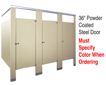"36"" PC STEEL PARTITION DOOR W/HDWE"