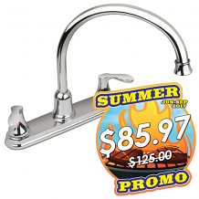 TWO-HANDLE HIGH ARC KITCHEN FAUCET