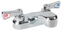 """4"""" CP TWO HANDLE LAV FAUCET"""