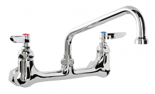 "SINK FAUCET BACK MT W/18"" SPOUT"