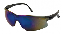 VISIO BLUE SAFETY GLASSES W/ ADJUSTABLE TEMPLES