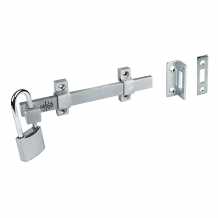 "6"" HD SURFACE BOLT W/PADLOCK FEATURE"
