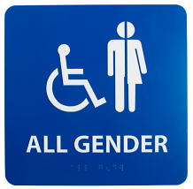 ALL GENDER / HANDICAPPED BRAILLE ADA SIGN