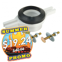 ADJUSTABLE PLASTIC URINAL FLANGE (PVC)