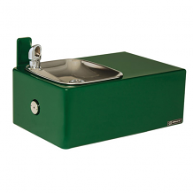 HAWS - BARRIER-FREE DRINKING FOUNTAIN 11 GAUGE STEEL W/SMOOTH GREEN POWDER COAT