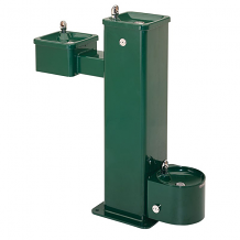 HAWS - SS BARRIER-FREE PEDESTAL FOUNTAIN W/PET STATION