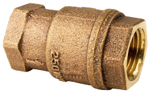 "1-1/4"" FNPT X FNPT IN-LINE BRONZE CHECK VALVE"