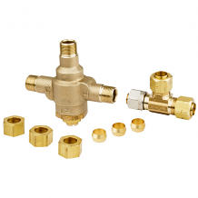 "LF 3/8"" COMP THERMOSTATIC MIX VALVE W/ TEE"
