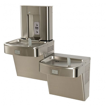 BI-LEVEL ADA WATER COOLER WITH BOTTLE FILLER (FLEXIBLE BUBBLER + STAINLESS STEEL)
