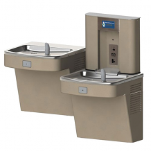 BARRIER-FREE BI-LEVEL SENSOR ACTIVATED WATER COOLER PC W/ FLEXIBLE BUBBLER