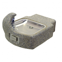 MURDOCK - CONCRETE WALL MOUNT PUSH BUTTON DRINKING FOUNTAIN