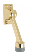 "4"" POL SOLID BRASS DOOR STOP"