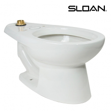 TAS JUVENILE TOP SPUD FLOOR MOUNT WATER CLOSET W/ SLOANTEC GLAZE