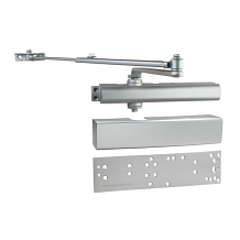 ALUM DOOR CLOSER W/ COVER & UNIVERSAL MOUNTING PLATE
