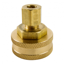 BRASS HOSE SWIVEL FITTING 1/4 COMP X 3/4 FGH