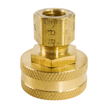BRASS HOSE SWIVEL FITTING 3/8 COMP X 3/4 FGH