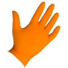 ASTRO-GRIP TEXTURED NITRILE GLOVES - ORANGE (BX 100) 6 MIL LG