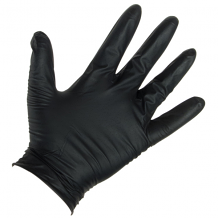NITRILE GLOVES - BLACK (BX 100) 6 MIL LG