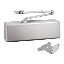 MULTI-SIZE ALUM DOOR CLOSER W/ STD ARM & DRESS COVER