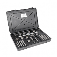24 PC CARBON STEEL TAP & DIE SET