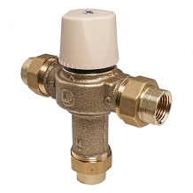 "LF 1/2"" THERMOSTATIC MIXING VALVE W/ UNION THREAD ENDS"