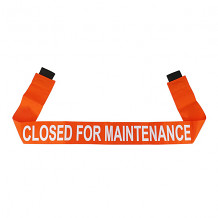 """CLOSED FOR MAINTENANCE"" - ORANGE MAGNETIC DOOR BARRIER FOR 36"" DOORWAY"