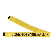 """CLOSED FOR MAINTENANCE"" - YELLOW MAGNETIC DOOR BARRIER FOR 51"" DOORWAY"