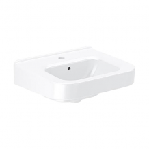 VITREOUS CHINA WALL-MOUNTED LEDGEBACK LAVATORY WITH SLOANTEC GLAZE